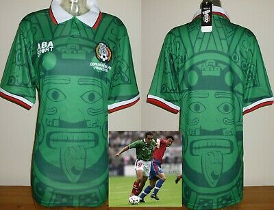 Retro Remake Mexico 1998 home football shirt Soccer Jersey adults M BNWT BLANCO