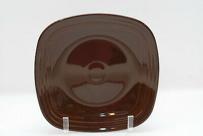 Homer Laughlin Fiesta Chocolate Brown Square Dinner Plate Plates 10.75 Inch