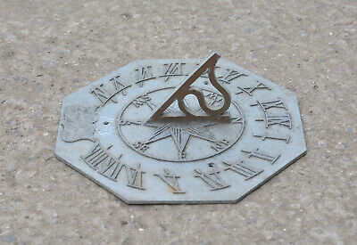 vintage sundial top old metal sundial cast aluminium sundial top FREE DELIVERY