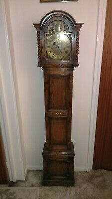 Antique Grandmother Clock with Latin inscription