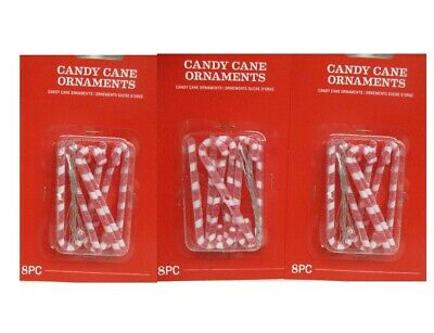 MINIATURE Christmas 24 pc. Sugared Candy Cane Ornaments 2.75""