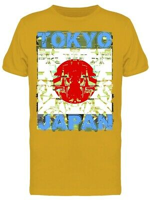 Tokyo Japan Flag Graphic Men's Tee -Image by Shutterstock