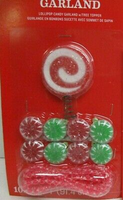 MINIATURE Christmas Sugared Candy Cane lollipop peppermint Tree Top & ornaments