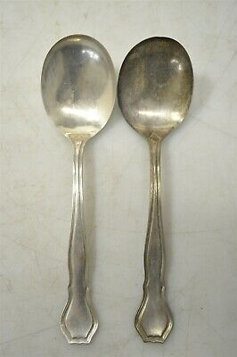 "Pair Of Antique 1908 Wallace Sterling Silver .925 ""Nile"" Spoons 73g Flatware"