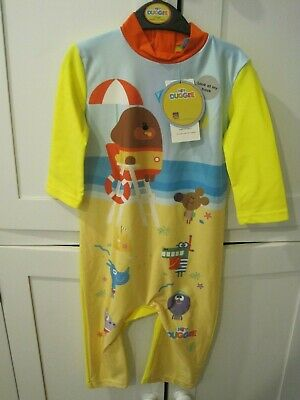 Hey Duggee BBc Yellow Life Guard playsuit age 5-6 years girls or boys