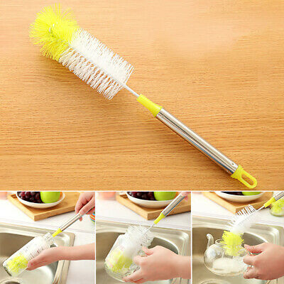 Home Kitchen Cup Brush Straight Bendable Lightweight Hanging Long Handle Simple