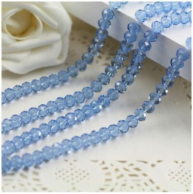 Free shipping 6x8mm Rondelle Faceted Crystal Glass Spacer Loose Beads 70pcs AAAA