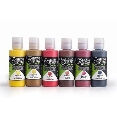 Grex Acrylic Airbrush Paint FIRE Color Set