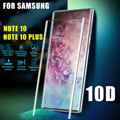 For Samsung Galaxy Note 10 Plus 3D Coverage Tempered Glass Screen Protector Film