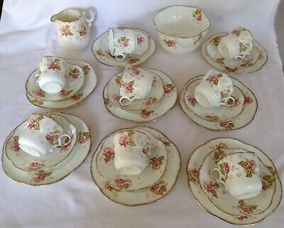 Antique - Tea Set - Setting For 8. Made By W & Sons
