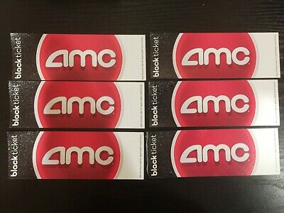 6 AMC Theater Black Movie tickets No Expiration FREE SHIPPING