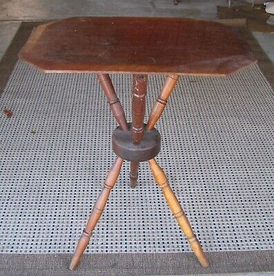 Antique Hallway Tripod Wooden Side Table