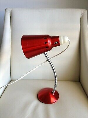 Vintage Retro Mid-Century Red Anodised Lamp Light - Working Well