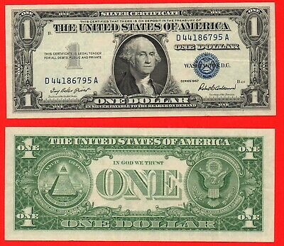 United States 1957 silver certificate 1 dollar banknote