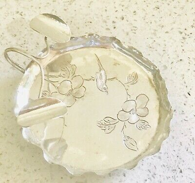 Rare Chinese export solid silver bowl , marked