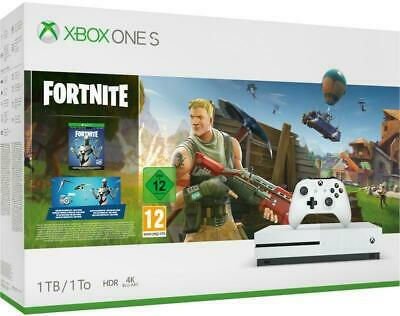 Microsoft Xbox One S 1TB White Console with Fortnite Battle Royale Bundle