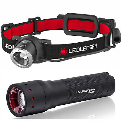 LED LENSER H8R Rechargeable HEAD LAMP TORCH FLASHLIGHT + P7.2 Torch VALUE PACK
