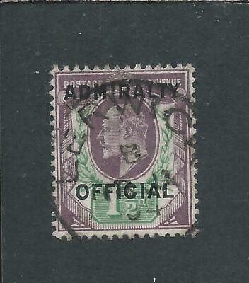 GB-KE7 ADMIRALTY OFF 1903-04 1½d DULL PURPLE & GREEN FU LERWICK CDS SG O109