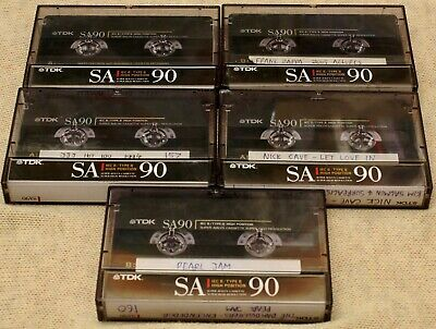 TDK SA90 Cassettes x 5, excellent used condition (High/IEC2/Chrome position)