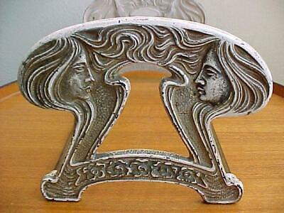 Antique Book Rack Book Shelf, Expandable, Original Art Nouveau