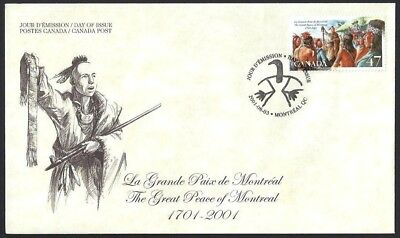 Canada  # 1915  The Great Peace of Montreal    New 2001 Unaddressed