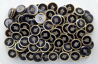 23mm 36L Yellow Mustard Orange 4 Hole Polished Craft Sewing Buttons Button Q578