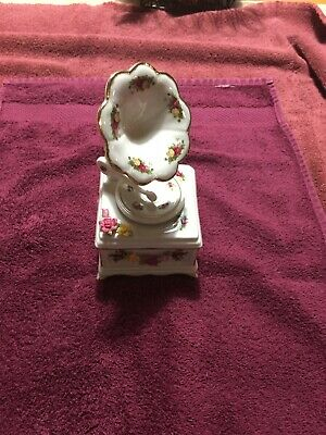 Royal Albert Old Country Roses  China Music Box Gramaphone Record Player