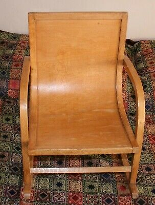 Arts And Crafts Antique Victorian Child's Rocking Chair