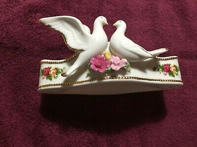 Royal Albert, Dove Unity Candle Holder, Old Country Roses.
