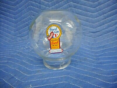 Glass Globe for a FORD Gumball Vending Machine 1 cent Penny Decal