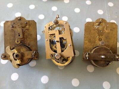 Antique Clock Movement To Restore Spare Parts Plates 6x5cm ex Clockmakers box