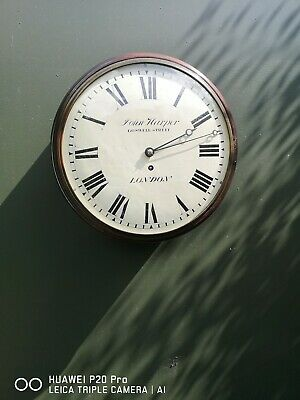 """Early 12"""" Convex Fusee Dial Clock"""