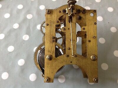 Antique Ansonia Clock Movement Chiming 9x13cm Plates Untested