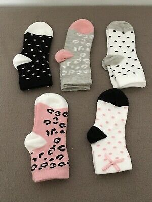 Baby Girls Socks 5 Pairs Toddler Ankle Design Socks Age 6-12 Months