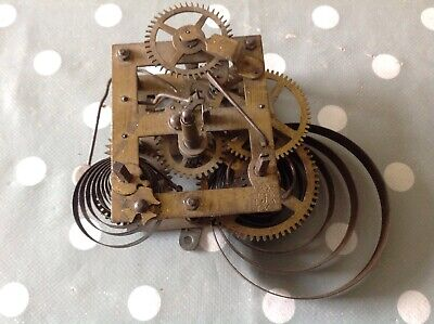 Antique Junghans Clock Movement Chiming 8x6cm Plates Untested