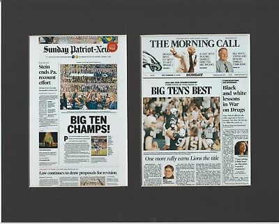 Penn State Wins Big Ten 2016 Football Title Matted Pics Of Newspaper Front Pages