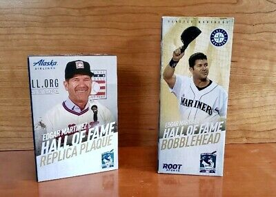 Edgar Martinez HOF SGA Seattle Mariners bundle! *Bobblehead AND Replica Plaque*