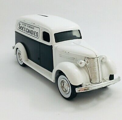 1938 Chevy Panel Truck with Key, Vintage  See's Candies Bank, ERTL Co. - # 2126