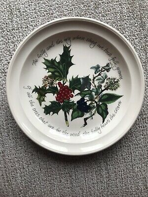 "PORTMEIRION THE HOLLY AND THE IVY 6"" PLATE British Pottery VERY GOOD CONDITION"