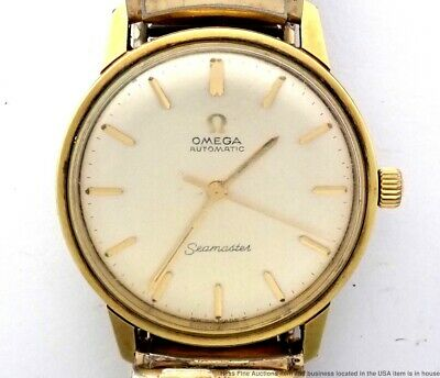 Vintage Omega Seamaster Automatic 552cal Mens Running Swiss Gold Plate Watch 24j