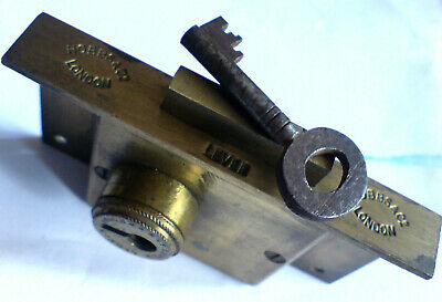 "Hobbs Of London Georgian 5 Lever Brass Cupboard/Cabinet Lock+Key 2""X3.5""X.5"""