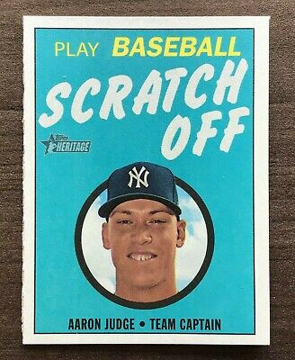 2019 Topps Heritage High Number 1970 Topps Scratch Off Insert ~ Pick your Card