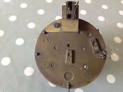 Antique French Barrel Clock Movement F Marti 80mm For Spare Parts Untested