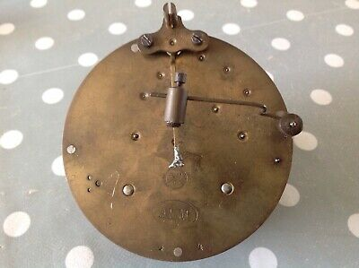 Antique FMS ALM Chiming Barrel Clock Movement 90mm For Spare Parts Untested