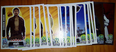 Lote de 20 cartas finales Star Wars Force Attax Carrefour 2016