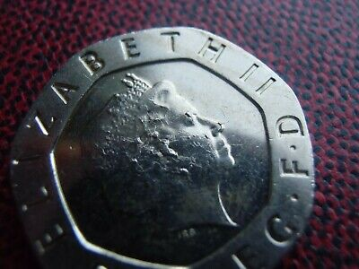 VERY RARE : 2008 Undated No Date Mule Twenty Pence 20p Error Minting Strike Coin