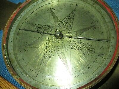 Antique  Surveying Compass - Late 18Th, Early 19Th  Century