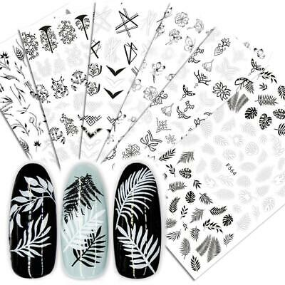 Manicure Decoration Full Wraps Nail Stickers Tattoos Tips 3D Adhesive Decals