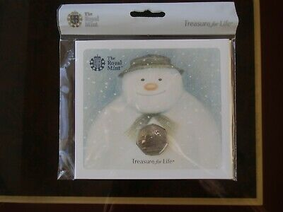 BU 2018 Snowman 50p Brilliant Uncirculated UK Coin Pack - Royal Mint Fifty Pence