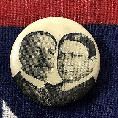 "Antique 1904 ""FRANK HIGGINS and LINN BRUCE"" NY Governor Campaign Pin-Back Button"